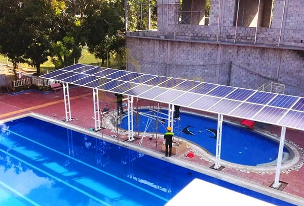 Lắp đặt pin Năng Lượng Mặt Trời 10kWp - Nhà chờ hồ bơi