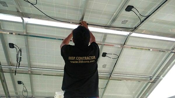 Lắp đặt pin Năng lượng mặt trời 5KWP - anh Khoe, Bình Chánh