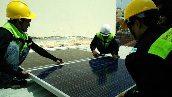 Lắp đặt pin Năng lượng mặt trời 3KWP -  Nhà anh Khuê