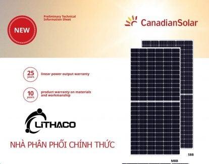 Pin năng lượng mặt trời Canadian 380 Mono