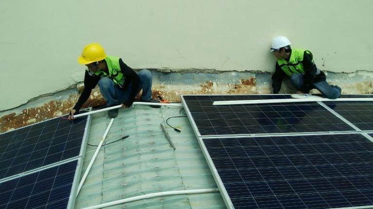 Lắp đặt pin mặt trời 3 kWp -  Nhà anh Phúc, Bình Dương