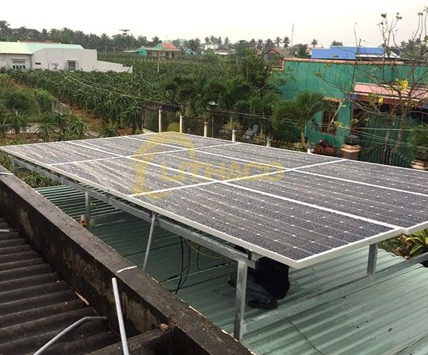 Lắp đặt pin Năng lượng mặt trời 3.36kWp – Nguyễn Công Thành, Tiền Giang