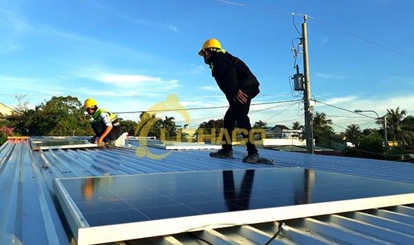 Lắp đặt pin Năng lượng mặt trời 2kWp – Nguyễn Thanh Giàu, Q12 TP.HCM