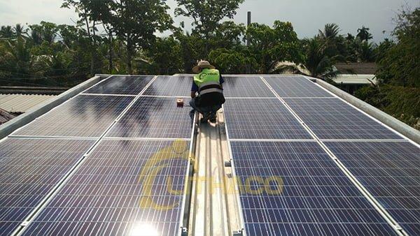 Lắp đặt hệ thống điện mặt trời 5kWp tại Mỹ Tho, Tiền Giang