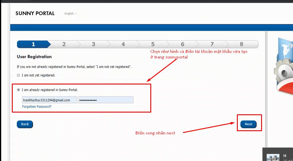 Tạo tài khoản Sunny Portal cài wifi SMA_ Điện mặt trời Lithaco