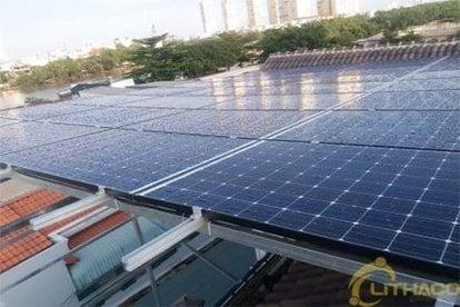 Lắp đặt hệ thống điện năng lượng mặt trời nối lưới công suất 10.40 kWp tại Nhà Bè, TPHCM