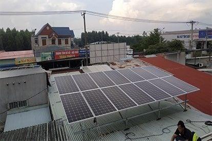 Lắp đặt hệ thống điện mặt trời nối lưới công suất 5.18 kWp tại ĐỒNG NAI, TPHCM