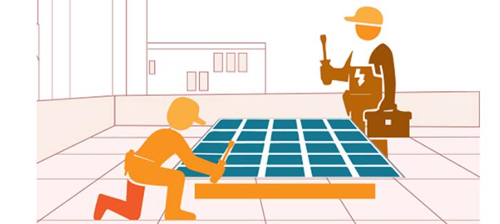 Bảo dưỡng thi công điện mặt trời