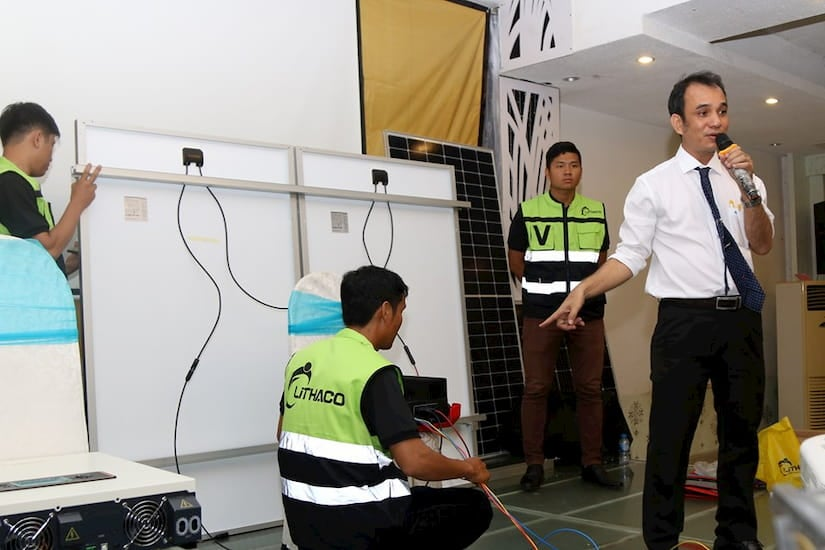 Đào tạo điện mặt trời từ Lithaco