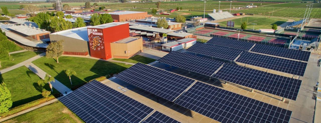 hệ thống điện mặt trời cho trường học