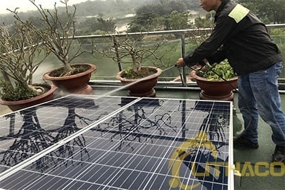 lắp đặt điện năng lượng mặt trời nối lưới 6.555 Kwp