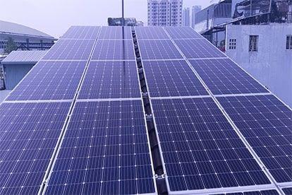 Lắp đặt hệ thống điện năng lượng mặt trời nối lưới hệ 10,44kwp - 3 pha tại Quận 7
