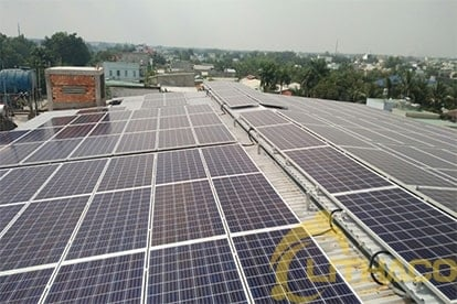 Lắp đặt hệ thống điện năng lượng mặt trời nối lưới công suất 40.12 kWp - 3P _QCELLS tại Bình Chánh 2