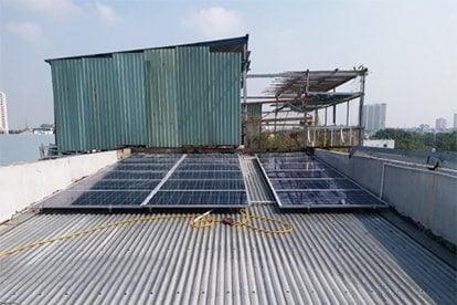 Lắp đặt hệ thống điện năng lượng mặt trời nối lưới công suất 5.13 kwp 1P- QCell