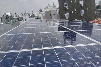 Lắp đặt hệ thống điện năng lượng mặt trời nối lưới công suất 5.52 Kwp - 1 Pha_QCELLS