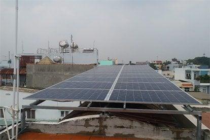 Lắp đặt hệ thống điện năng lượng mặt trời nối lưới công suất 6.16 kWp - 1P_QCELLS