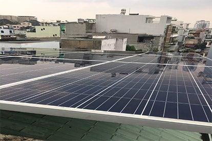 Lắp đặt hệ thống điện năng lượng mặt trời nối lưới công suất 4.44 kWp - 1P _QCELLS