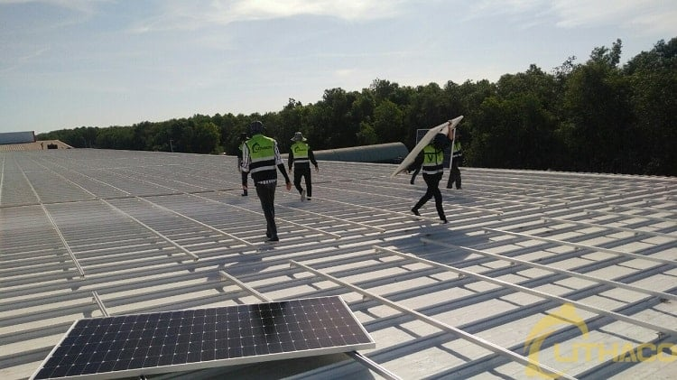 Providing labor for solar power projects