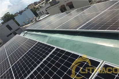 Lắp đặt hệ thống điện năng lượng mặt trời nối lưới công suất 5.175 kWp - 1P _QCELL khách hàng Phan Đăng Tráng Tân Bình