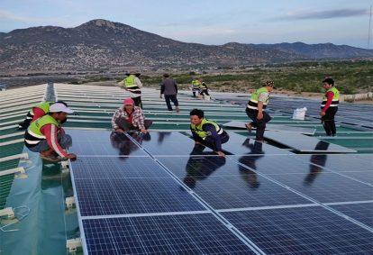 Tên Dự án: Cung cấp và lắp đặt hệ thống điện năng lượng mặt trời mái nhà công suất (5 x 210kWp-3p)-JINKO. Khách hàng PHAN THẾ TÀI
