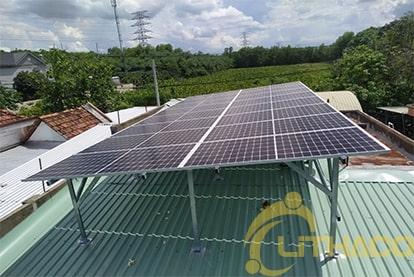 Tên Dự án: Lắp đặt hệ thống điện năng lượng mặt trời nối lưới công suất 6.4 kWp - 1P _QCELLS khách hàng Phạm Văn Trạm , TPHCM