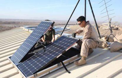 Quân đội Mỹ tiến về năng lượng mặt trời