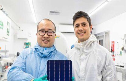 Pin mặt trời hiệu quả nhất thế giới khi thay thế bạc bằng đồng